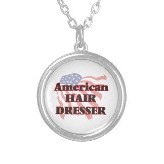 American Hair Dresser Round Pendant Necklace