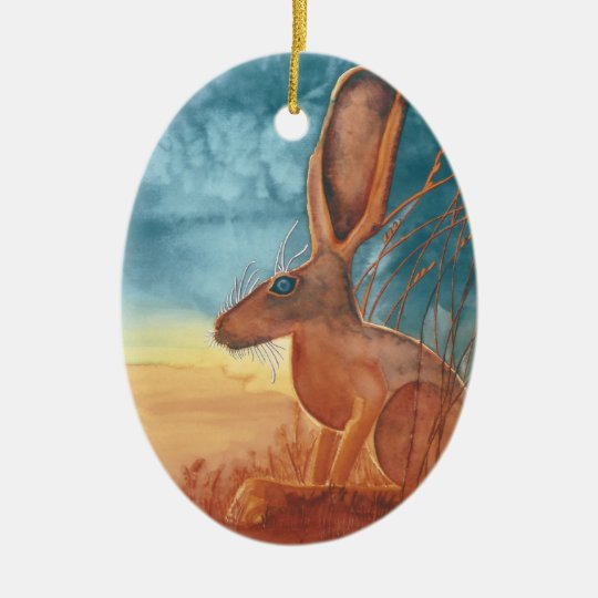 American Hare Christmas Ornament