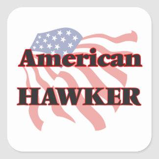 American Hawker Square Sticker