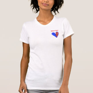 American heart customized matron of honor shirt