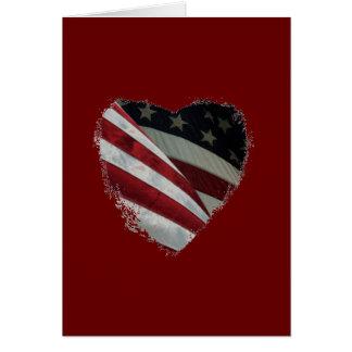 American Heart Flag Card