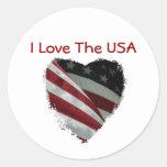American Heart Flag Sticker