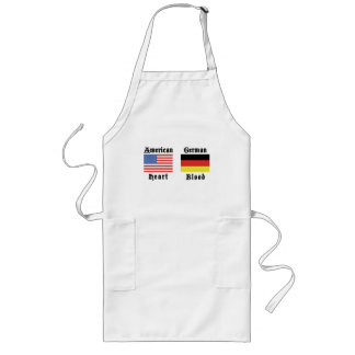 American Heart German Blood Gift Long Apron