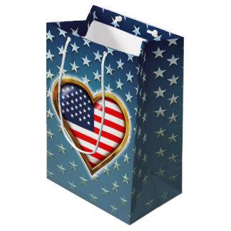 American Heart Medium Gift Bag