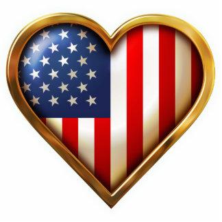 American Heart Photo Sculpture Magnet