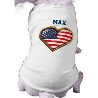 American Heart Sleeveless Dog Shirt