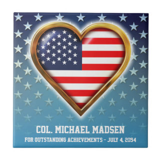 American Heart Small Square Tile