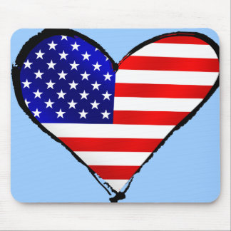 American heart USA Soccer lover US soccer gifts Mouse Pad