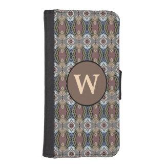 American Heritage Colors Pattern w/Monogram iPhone 5 Wallet Cases