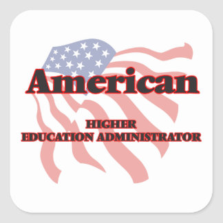 American Higher Education Administrator Square Sticker