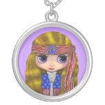 American Hippie Doll Necklace
