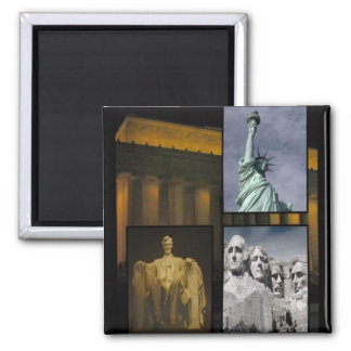 American History Icons Square Magnet