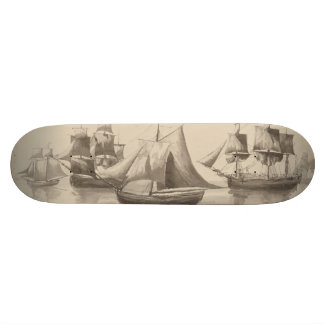 American History - Sailing from Halifax 19.7 Cm Skateboard Deck