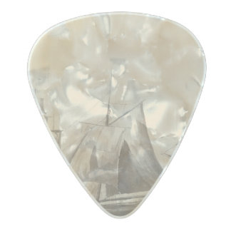 American History - Sailing from Halifax Pearl Celluloid Guitar Pick