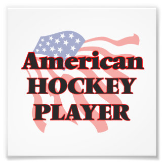 American Hockey Player Photograph