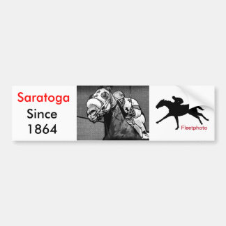 American Horse Racing Art Bumper Sticker