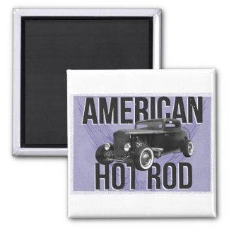 American Hot Rod - blue version Refrigerator Magnet