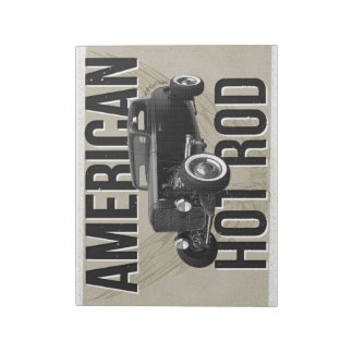 American Hot Rod - brown version notepad Memo Notepad