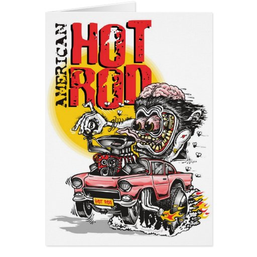 american hot rod greeting card