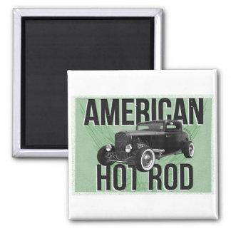 American Hot Rod - green version Refrigerator Magnets