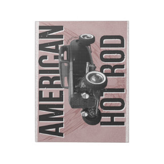 American Hot Rod - red version notepad Notepads