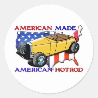 American Hotrod Round Stickers