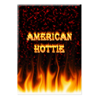 American hottie fire and flames Red marble Large Business Cards (Pack Of 100)