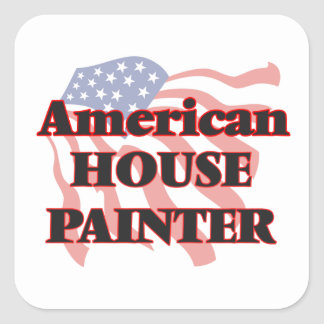 American House Painter Square Sticker