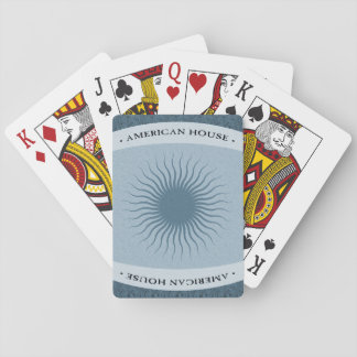 American House Playing Cards - Blue