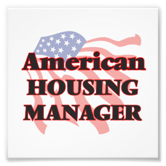 American Housing Manager Photo Art