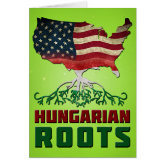 American Hungarian Roots Card