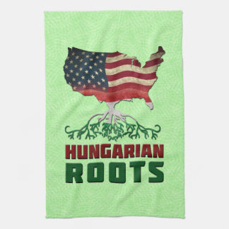 American Hungarian Roots Tea Towel