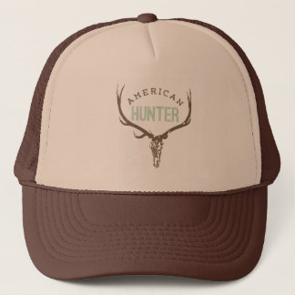 American Hunter - Skull with Rack deer / elk Trucker Hat