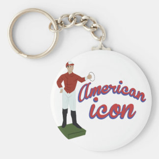 American Icon Basic Round Button Key Ring