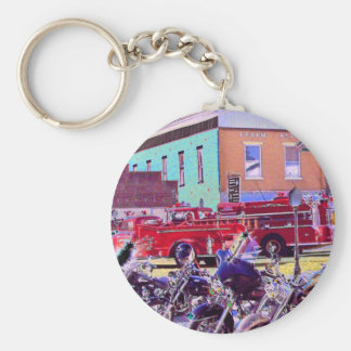 American Icons Basic Round Button Key Ring