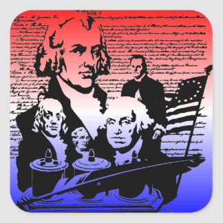 American Independence Day, 4th of July Square Sticker