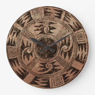American Indian Basket design Wall Clocks