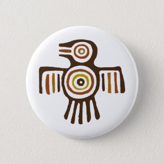 American Indian Bird 6 Cm Round Badge