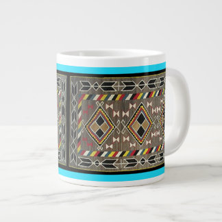 American Indian Blanket Collage Jumbo Mug