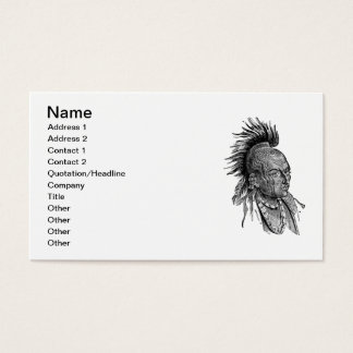 American indian business card