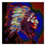 American Indian Chief Graphic Poster