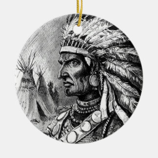 American Indian Chief Ornament
