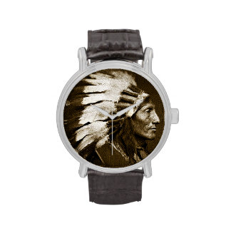 American Indian Chief (Sepia) Watch