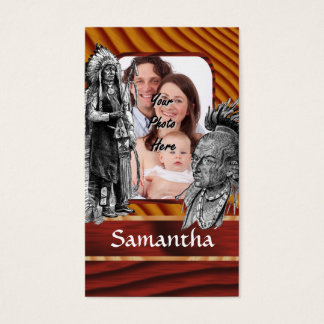 American Indian chiefs Business Card
