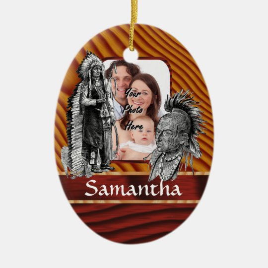 American Indian chiefs Christmas Ornament