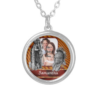 American Indian chiefs Round Pendant Necklace