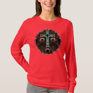 American Indian Cross in Night Sky T-Shirt