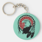 American Indian Eagle Dreamcatcher Keychain