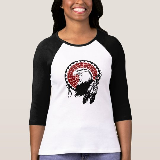 American Indian Eagle Dreamcatcher Raglan T-Shirt