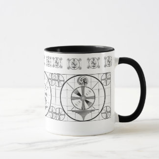 American Indian Head Television Test Pattern Mug